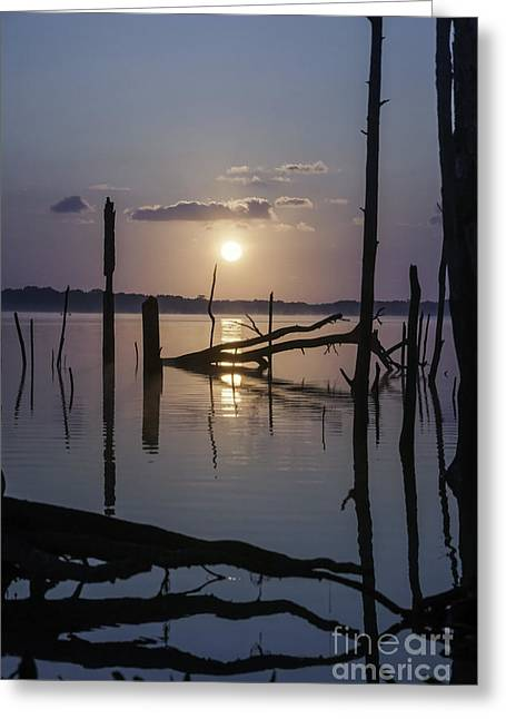 Sunrise Over Manasquan Reservoir Greeting Card