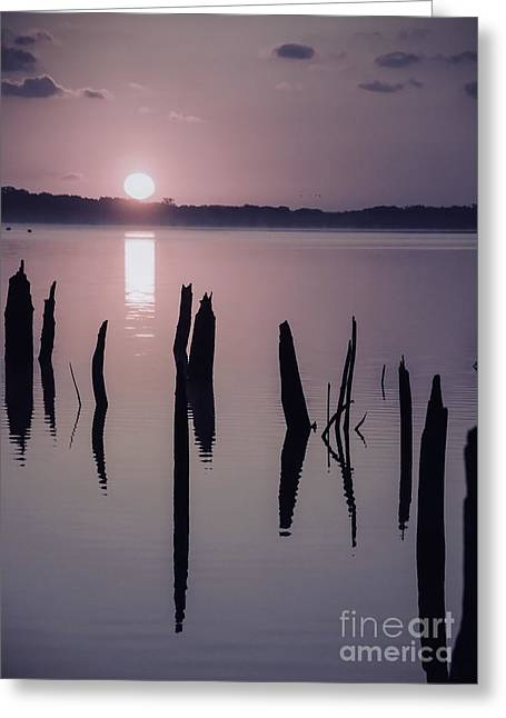 Sunrise Over Manasquan Reservoir Iv Greeting Card