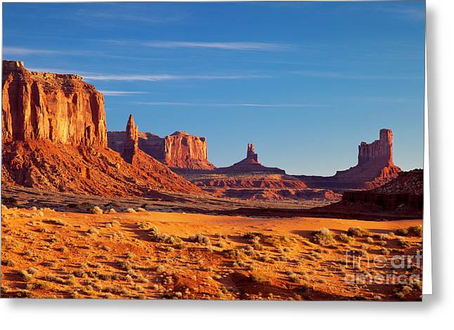 Sunrise Over Monument Valley Greeting Card