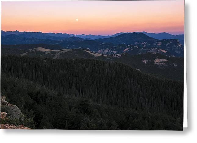 Sunrise Over Moonset Greeting Card