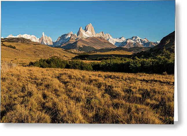 Sunrise Over Mt Fitzroy, Chalten Greeting Card by Panoramic Images