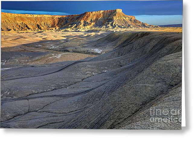 Sunrise Over North Caineville Butte Greeting Card by Gary Whitton