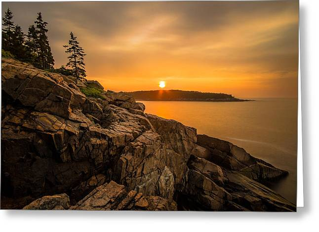 Sunrise Over Otter Cove Greeting Card