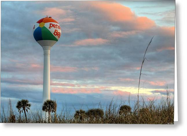 Sunrise Over Pensacola Beach Greeting Card by JC Findley