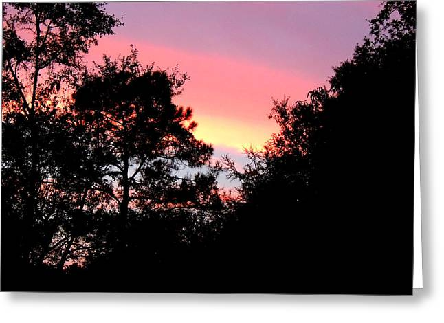 Sunrise Over Perry Greeting Card