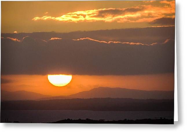 Sunrise Over River Shannon Greeting Card