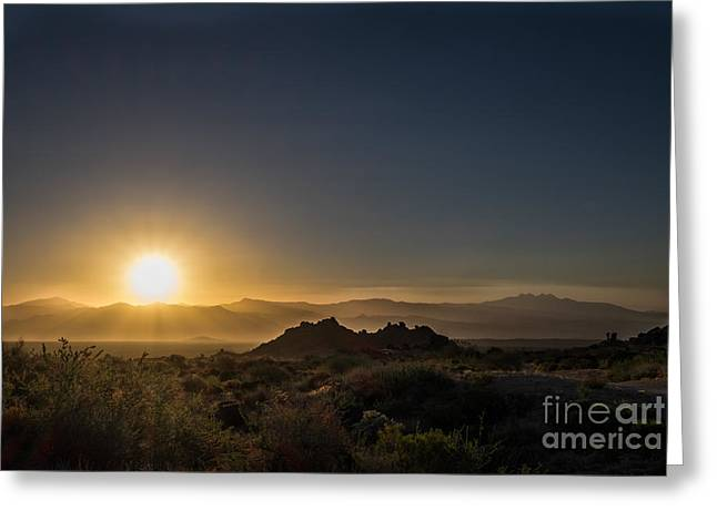 Sunrise Over Rock Knob Greeting Card