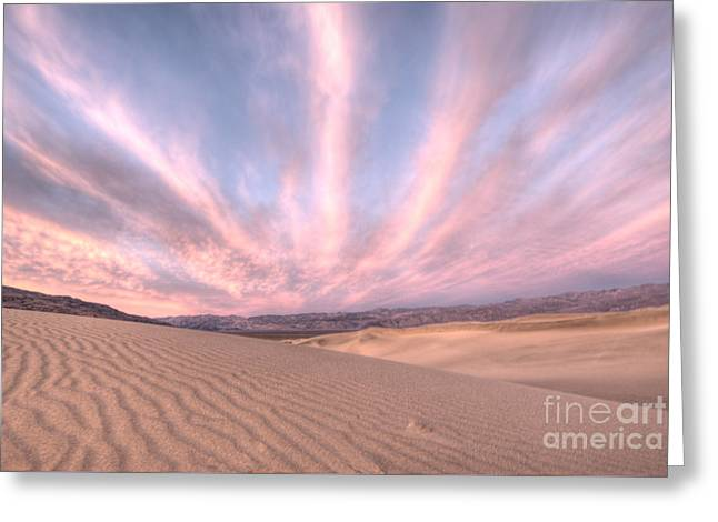 Sunrise Over Sand Dunes Greeting Card by Juli Scalzi