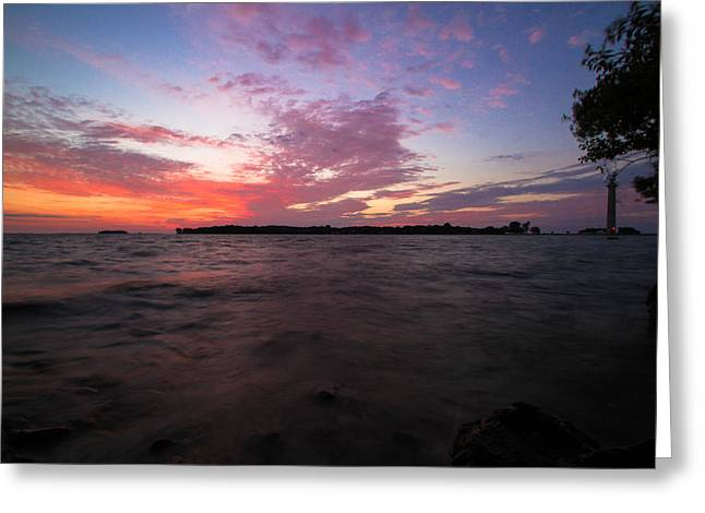 Sunrise Over South Bass Island Greeting Card by Haren Images- Kriss Haren