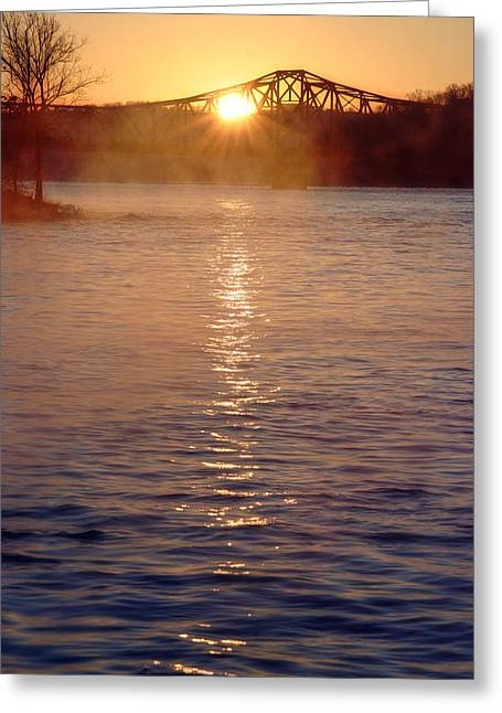 Sunrise Over Table Rock Greeting Card