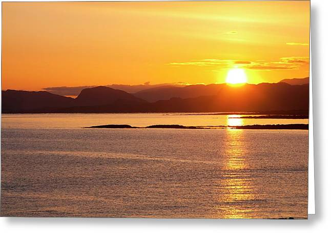 Sunrise Over The Applecross Mountains Greeting Card