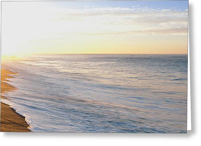 Sunrise Over The Beach, Lands End, Baja Greeting Card by Panoramic Images