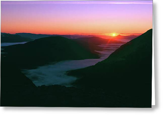Sunrise Over The Buachaille Etive Mor Greeting Card