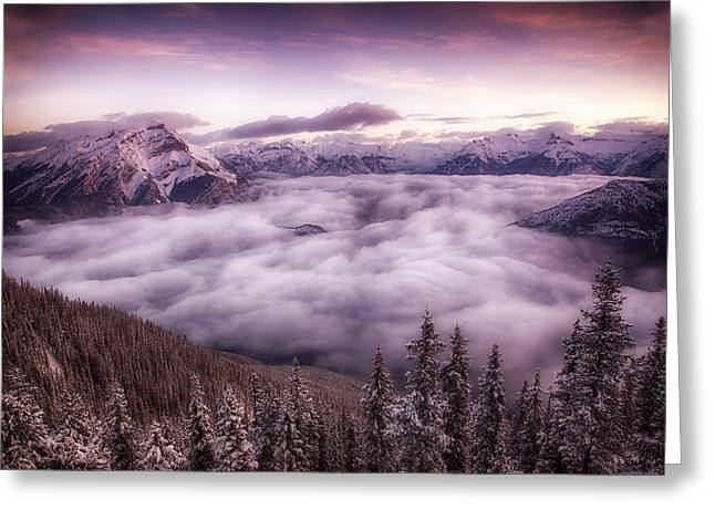 Sunrise Over The Canadian Rockies Greeting Card