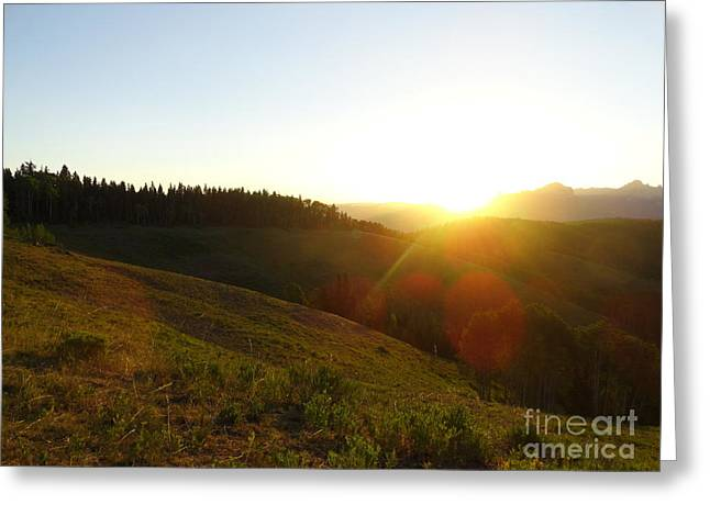 Sunrise Over The Cimarrons Greeting Card