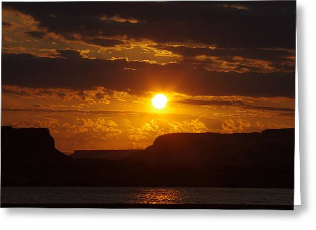 Sunrise Over The Gorge Greeting Card by Ruth Taylor