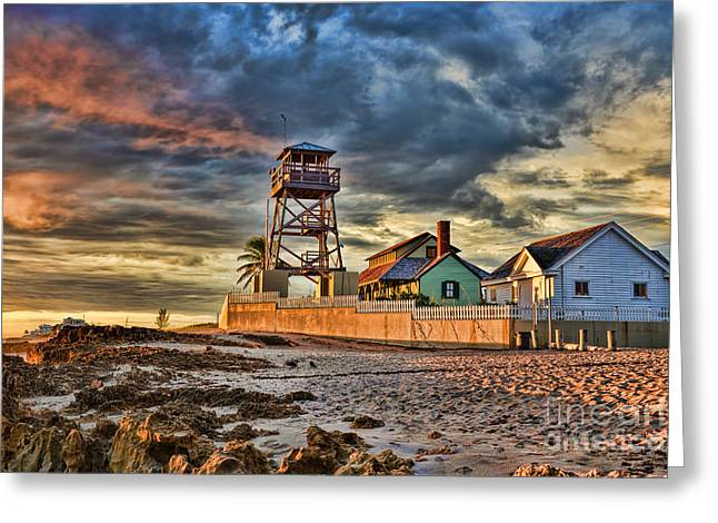 Sunrise Over The House Of Refuge On Hutchinson Island Greeting Card