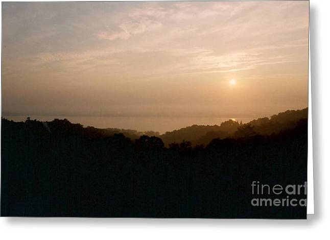 Sunrise Over The Illinois River Valley Greeting Card
