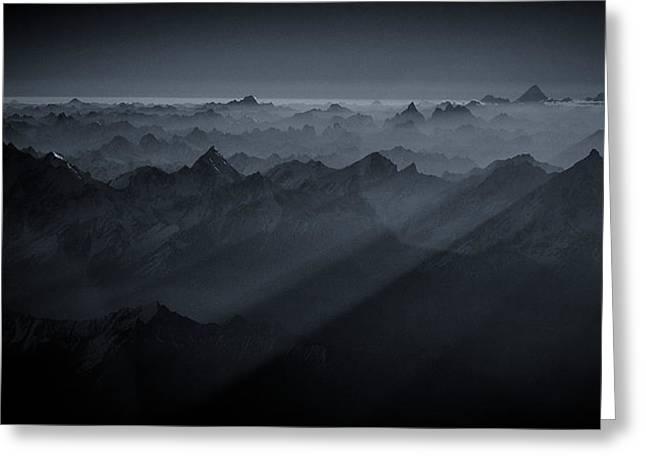 Sunrise Over The Karakoram Greeting Card