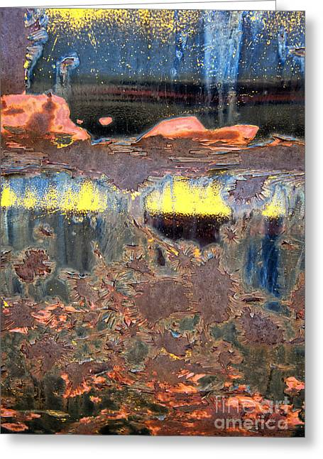 Sunrise Over The Lake Abstract Greeting Card by Lee Craig