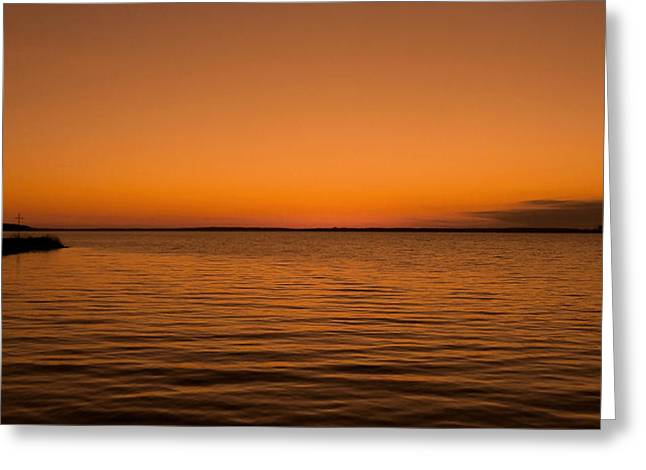 Sunrise Over The Lake Of Two Mountains - Qc Greeting Card by Juergen Weiss