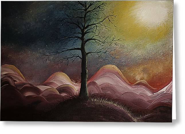 Sunrise Over The Mountains Greeting Card by Gray  Artus