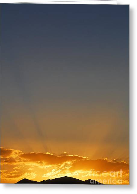 Sunrise Over The Mountains In Kyrgyzstan Greeting Card