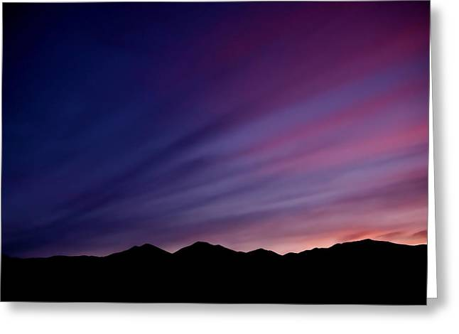 Sunrise Over The Mountains Greeting Card