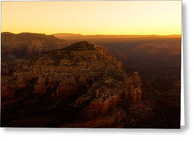 Sunrise Over The Red Rocks Of Sedona Greeting Card