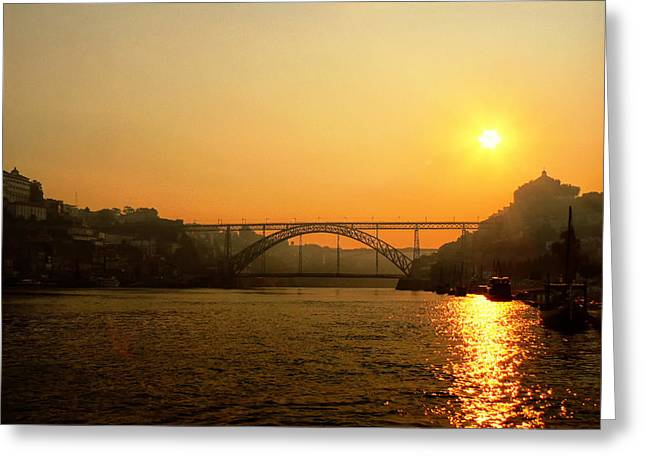 Sunrise Over The River Greeting Card
