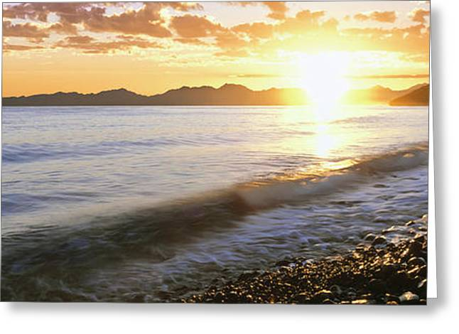 Sunrise Over The Sea, Windansea Beach Greeting Card by Panoramic Images