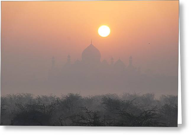 Sunrise Over The Taj Greeting Card