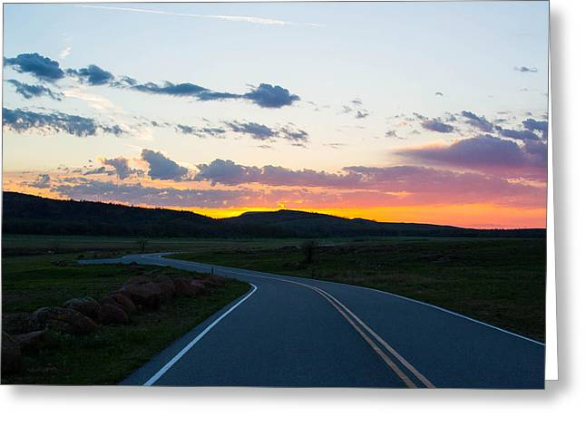 Sunrise Over The Wichitas Greeting Card