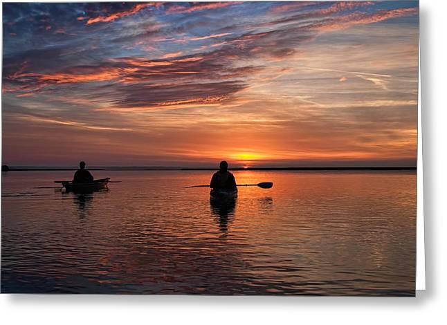 Sunrise Paddle Greeting Card