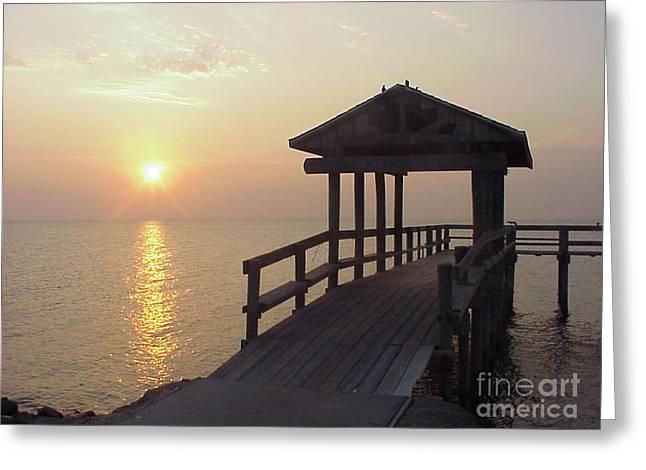 Sunrise Pier 1 Greeting Card