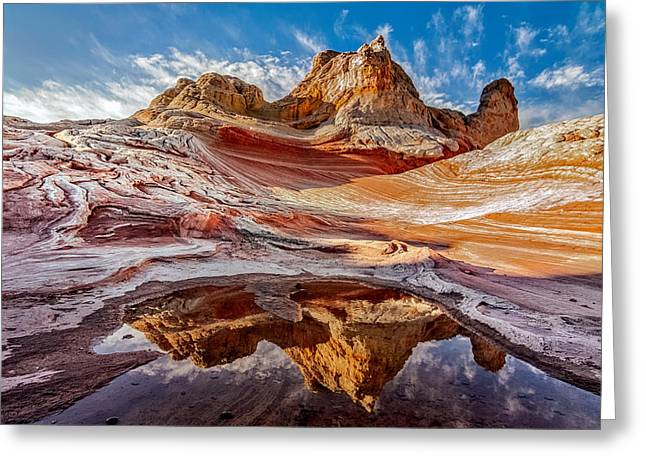 Sunrise Reflection At White Pocket Az Greeting Card