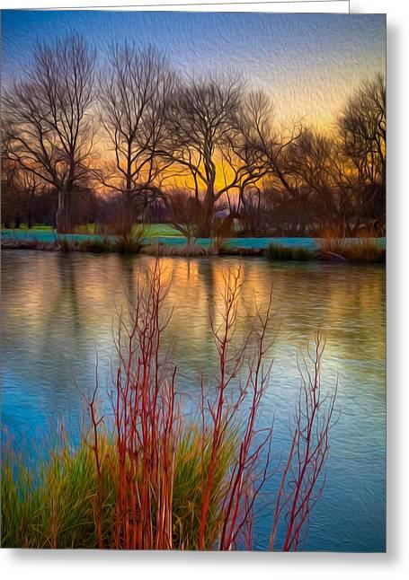 Sunrise Reflection Greeting Card