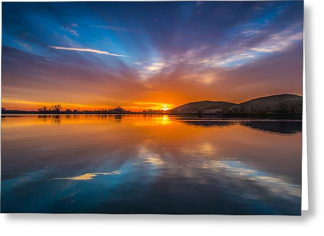 Sunrise Reflection Greeting Card