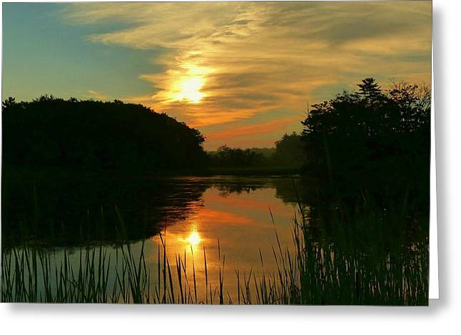 Greeting Card featuring the photograph Sunrise Reflections by Elaine Franklin