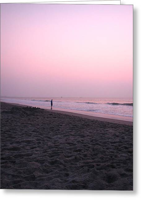 Sunrise Reflections Greeting Card by Peggy Burley