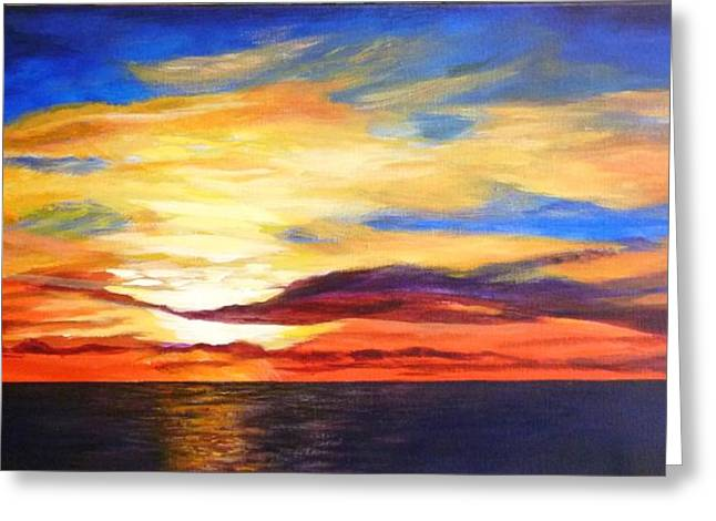 Greeting Card featuring the painting Sunrise by Renate Voigt