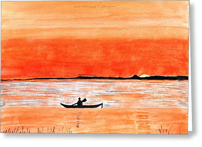 Sunrise Sail Greeting Card by Sonali Gangane