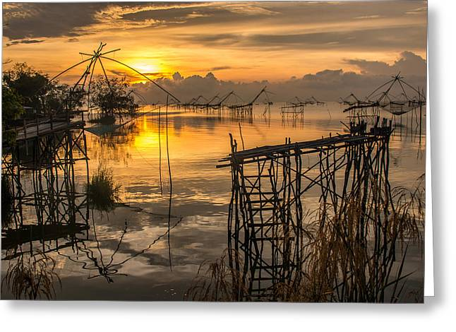 Sunrise  Greeting Card by Sihasak Prachum