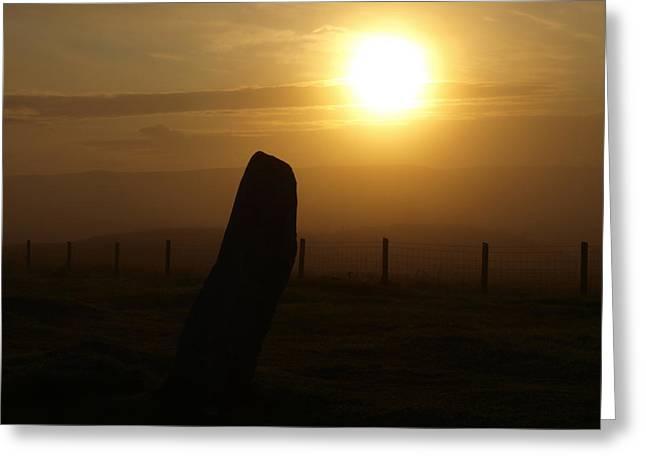 Sunrise Silhouette Scotland Greeting Card by Michaela Perryman