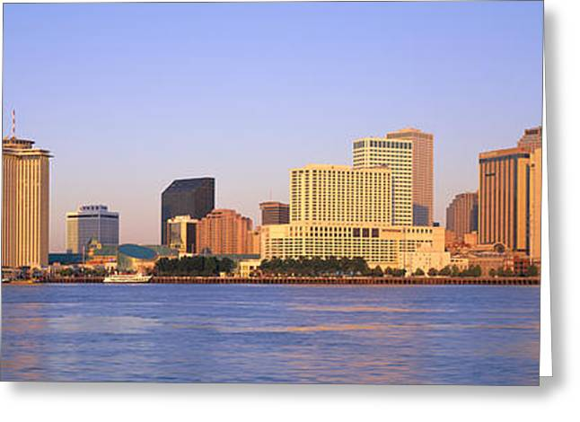 Sunrise, Skyline, New Orleans Greeting Card by Panoramic Images