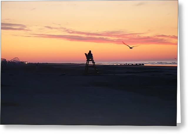 Sunrise Solitude Greeting Card by Bill Cannon