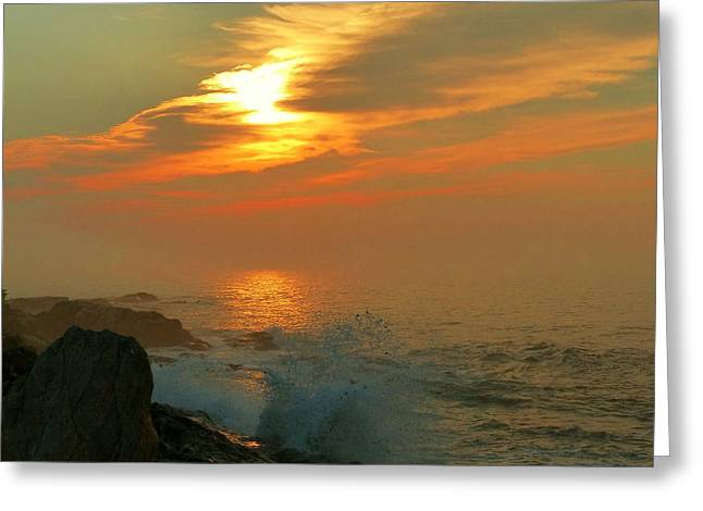 Greeting Card featuring the photograph Sunrise Splash by Elaine Franklin