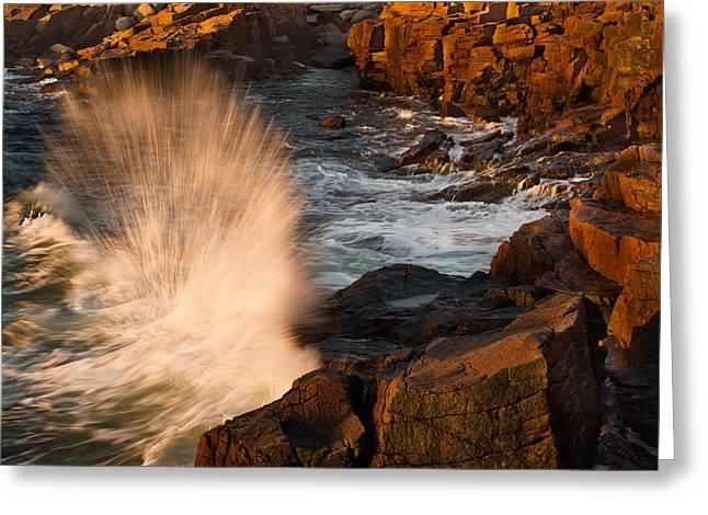 Sunrise Splash Greeting Card by Jonathan Steele