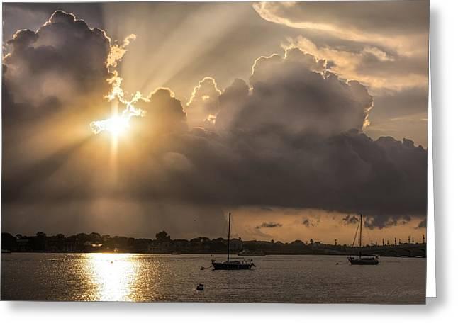 Sunrise St Augustine Bayfront Greeting Card