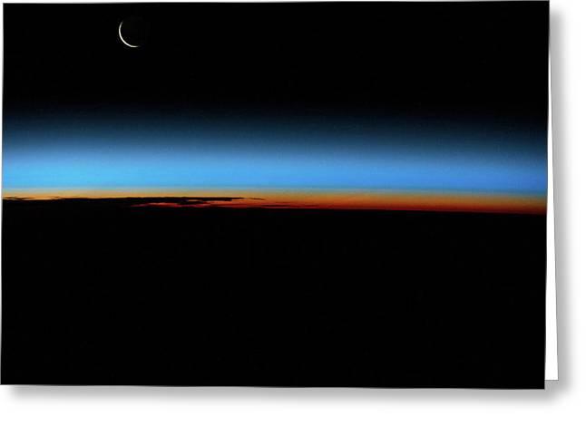 Sunrise Sunset Over South Atlantic Greeting Card